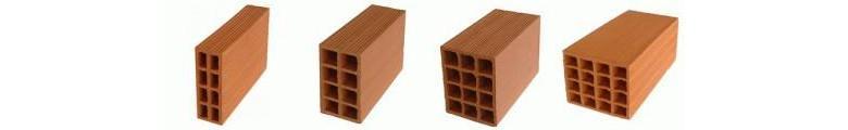 Preços de tijolo cerâmico furado