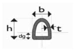 Tubo estrutural semi elíptico laminado a quente