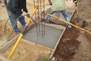 Ficha de rendimento – Sapatas em betão armado com 120x120x70cm