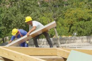 Fichas de rendimento com preços de estruturas de madeira